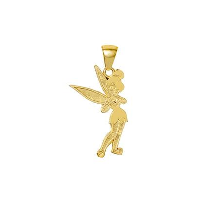 10KT Yellow Gold Tinker Bell Pendant 16