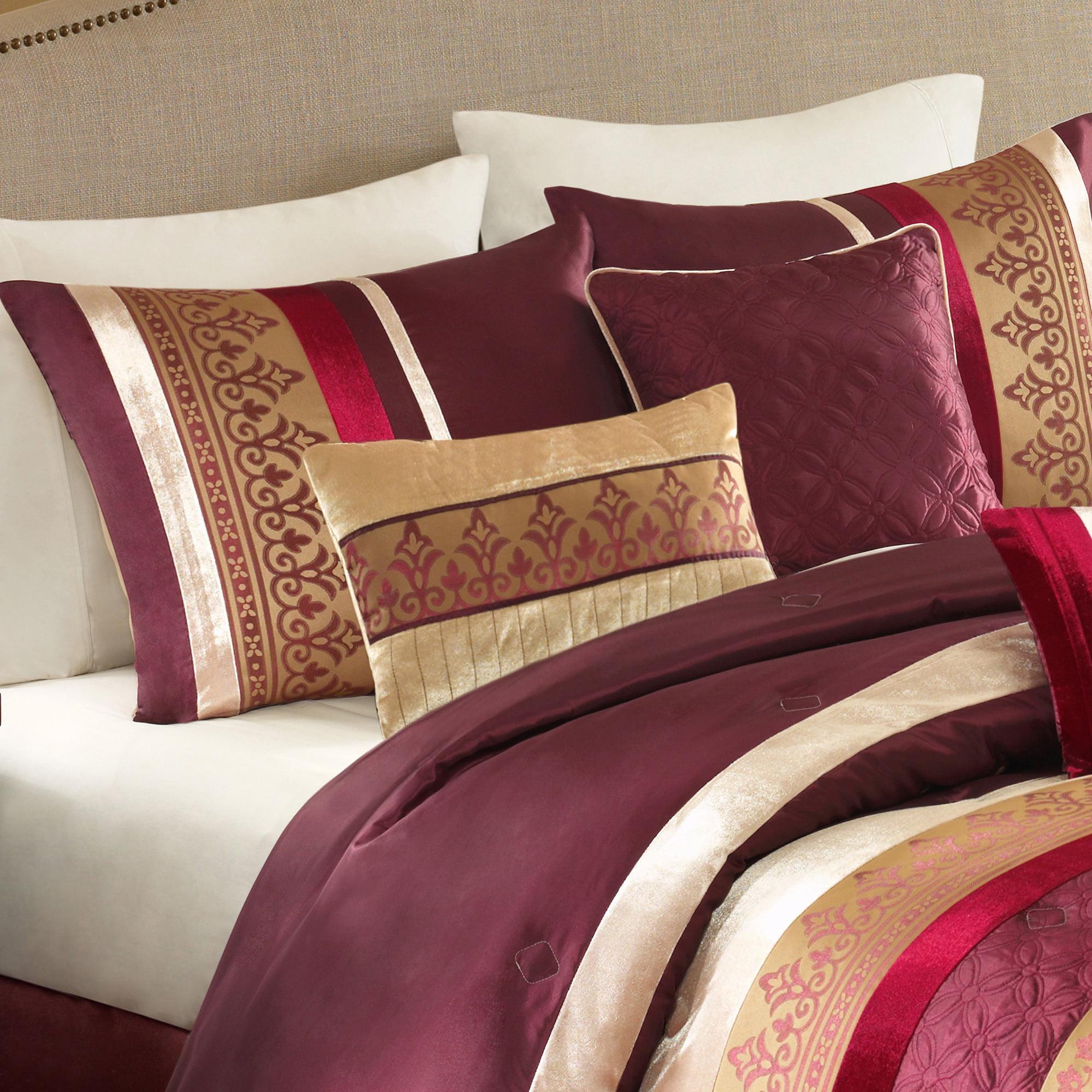 Better Homes and Gardens Nina 7-Piece Comforter Bedding Set, King ...