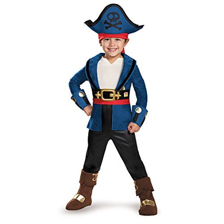 Captain Jake and the Never Land Pirates: Deluxe Captain Jake Child Halloween Costume, Small (4-6)