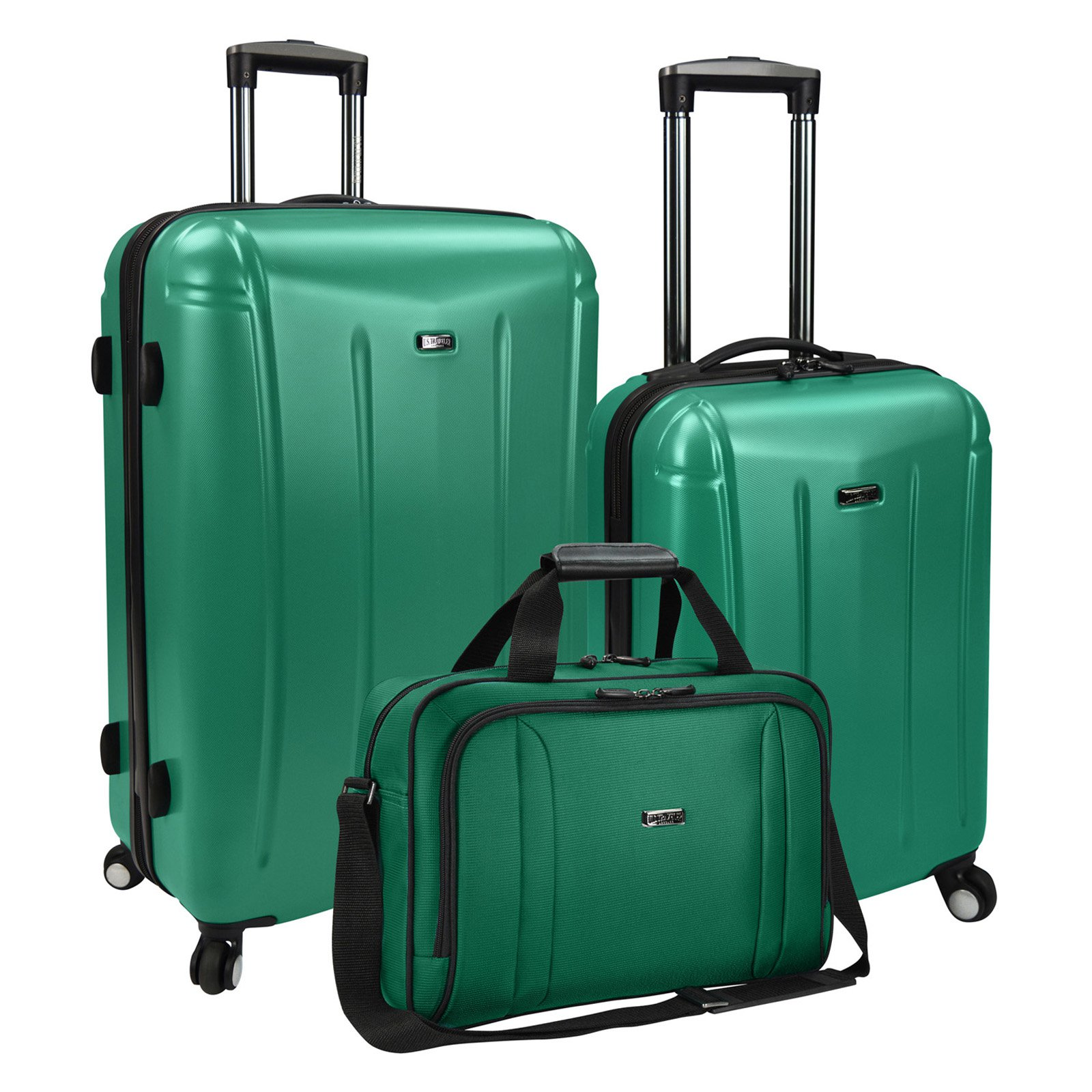 U S Traveler Us Hytop 3 Piece Hybrid Luggage Set