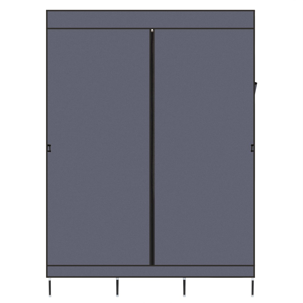 Closet Organizer Kit Segmart Heavy Duty Portable Closet With Shelves Wardrobe Closets For Bedroom Closet Storage Shelves With Zippered Dustproof Cover Easy To Assemble Gray W174 Walmart Com Walmart Com