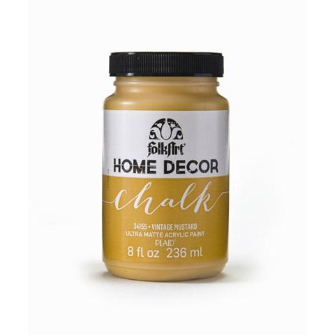 FolkArt Home Decor Chalk Vintage Mustard 8 Ounces