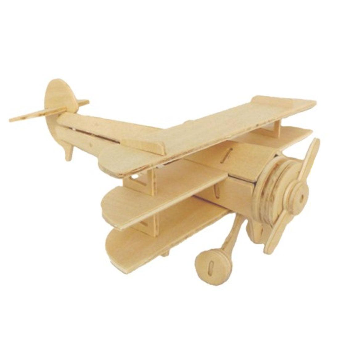 Wooden Assemble 3D Sopwith Triplane Model Construction Kit Puzzle Toy
