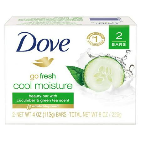 (Total 12ct) 6 pack_Dove go fresh Cucumber and Green Tea Beauty Bar, 4 oz, 2 Bar](Cucumber Snack)