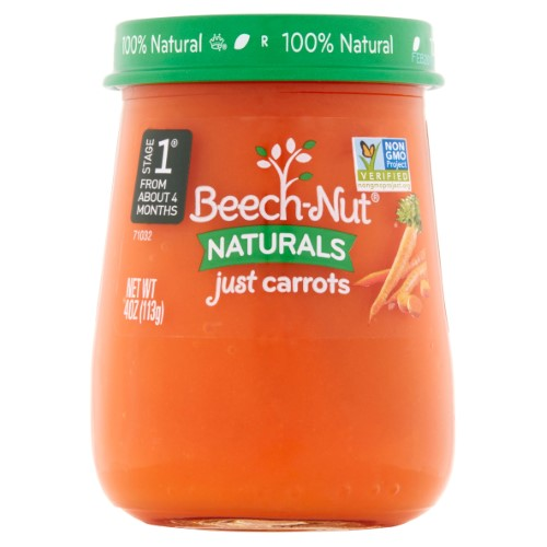 Beech-Nut Naturals Stage 1 Just Carrots, 4 oz (Pack of 6)