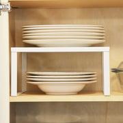 brightmaison 1 White Metal Kitchen Cabinet and Counter Top Organizer Shelf , 13 inch wide 11 inch deep