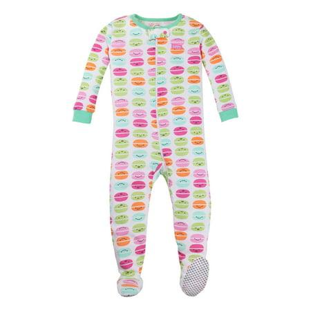 Pure Organic Cotton Stretchy Footed Pajama Sleeper (Baby Girls & Toddler Girls) (Pink Unicorn Footed Pajamas)