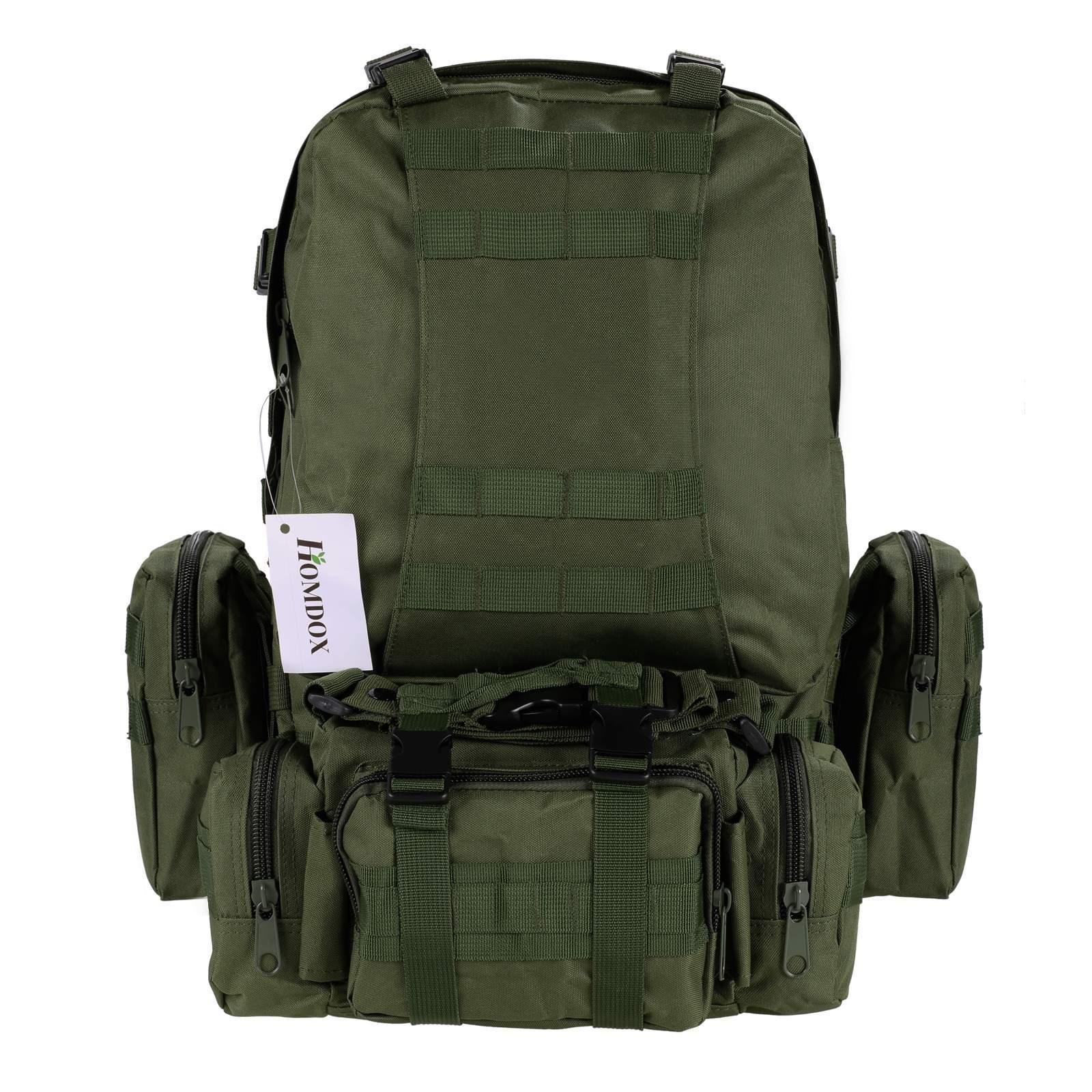 2ee76ff0b1e0 Fashion Detachable 55L Pack large waterproof Military Tactical Backpack  Rucksacks Outdoor Sport Camping Bag - Walmart.com