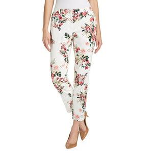 Printed Slim Ankle-Length Pants