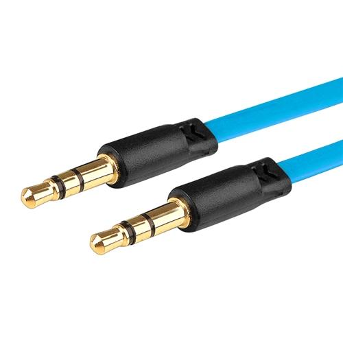 Insten 3.5mm Audio Aux Stereo Extension M/M Cable Cord 3.3FT Light Blue for Cell Phone Mobile Smartphone PC Speaker
