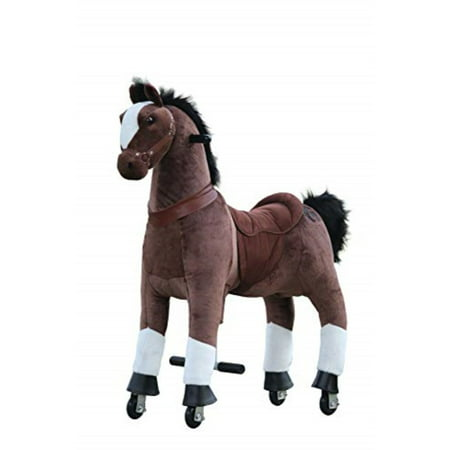 medallion - my pony ride on real walking horse for children 5 to 12 years old or up to 110 pounds (color medium chocolate horse) for boys and girls (Walking Staff Medallions)