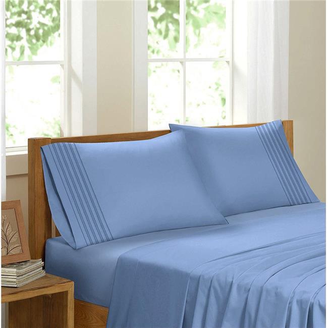 GDC-GameDevCo 37255 Egyptian Comfort Sateen Sheet Set, Sky Blue - Double
