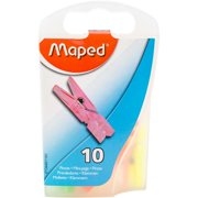 Maped Helix USA 344011ZC Mini Clothespin Clips Assorted, Acrylic, Multicoloured - Pack of 10