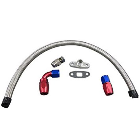 Universal Turbo Oil Return Drain Kit 10AN Oil Pan Plug