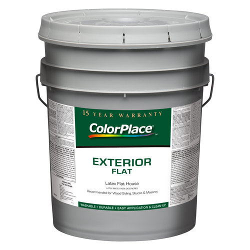 ColorPlace Exterior Flat Light Base Paint, 5 gal