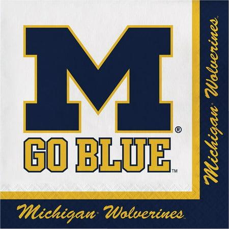 Creative Converting University Of Michigan Napkins, 20 ct](University Of Michigan Party Supplies)