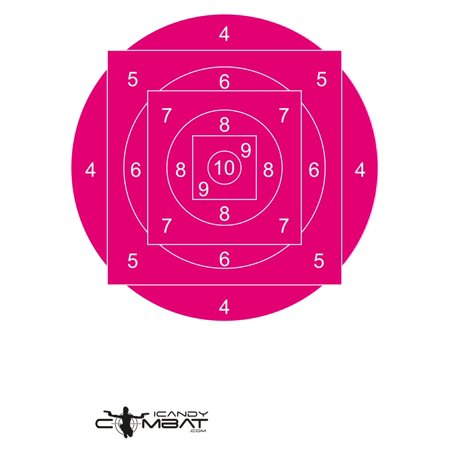 Pink Geometric Bulls-Eye Practice Targets  - Girl Teen Woman Shooter (Target Women)