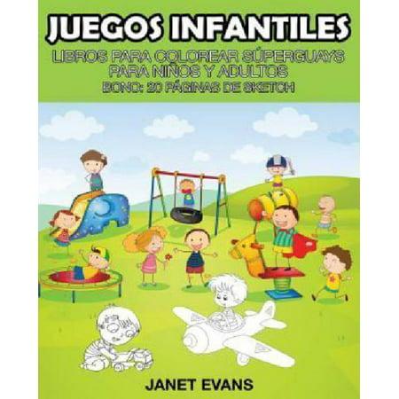 Juegos Infantiles  Libros Para Colorear Superguays Para Ninos Y Adultos  Bono  20 Paginas De Sketch