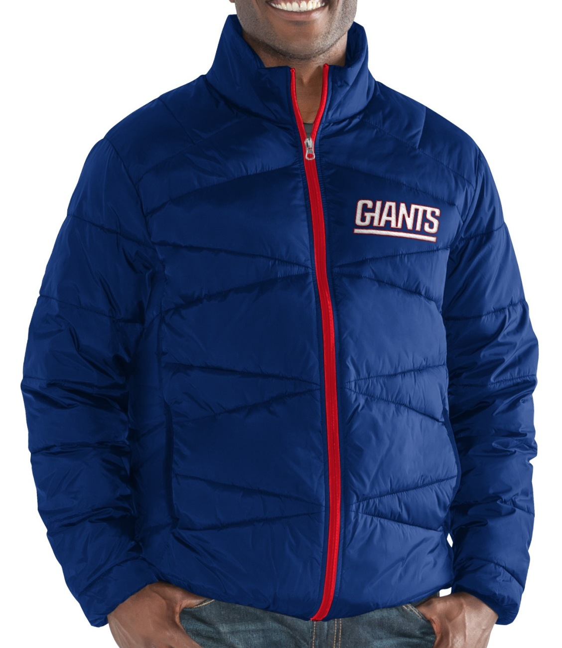 "New York Giants Men's NFL G-III ""Blitz"" F Zip Packable Quilted Jacket with Bag by G-III Sports"