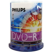 Philips DM4S6B00F/17 4.7GB 16x DVD-Rs, 100-ct Cake Box Spindle