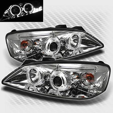 2007 Pontiac G6 Headlight (2005-2009 Pontiac G6 Dual Halo LED Projector Headlights  Head Lights Pair Left+Right 2006 2007 2008 )
