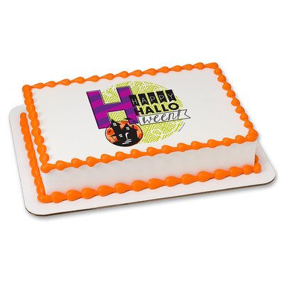 Halloween Edible Icing Image for 6 inch Round Cake - Halloween Marijuana Edibles