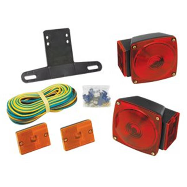 Wesbar 2823285 Trailer Light Kit With 25 Ft. Wire Harness, With Rectangular on