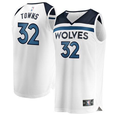 sale retailer 070fc 56667 Karl-Anthony Towns Minnesota Timberwolves Fanatics Branded Youth Fast Break  Replica Jersey White - Association Edition