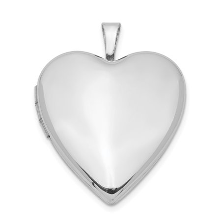 925 Sterling Silver 20mm Front Back Heart Photo Pendant Charm Locket Chain Necklace That Holds Pictures Gifts For Women For Her