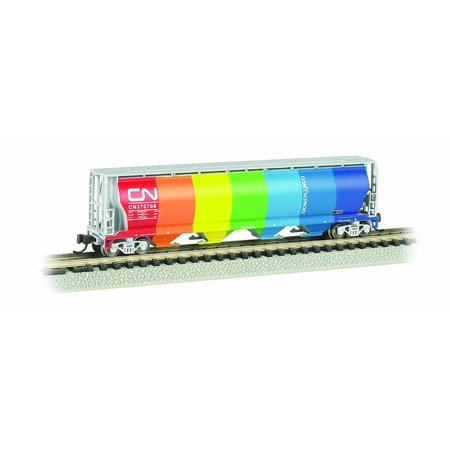 Bachmann Industries Inc. Canadian 4-Bay Cylindrical Grain Hopper Canadian National - Demonstrator - N Scale, Rolling Stock for your N Scale layout By Bachmann Trains Ship from US