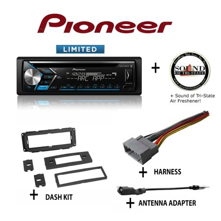 Pioneer DEH-S4010BT CD Receiver + Best Kit BKCDK640 Dash Kit + BHA1818 Harness + BAA20 Antenna Adapter + SOTS Air