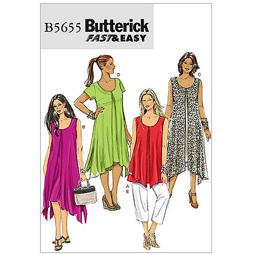 Butterick Pattern Misses' and Women's Top, Dress and Pants, RR (18W, 20W, 22W, 24W)