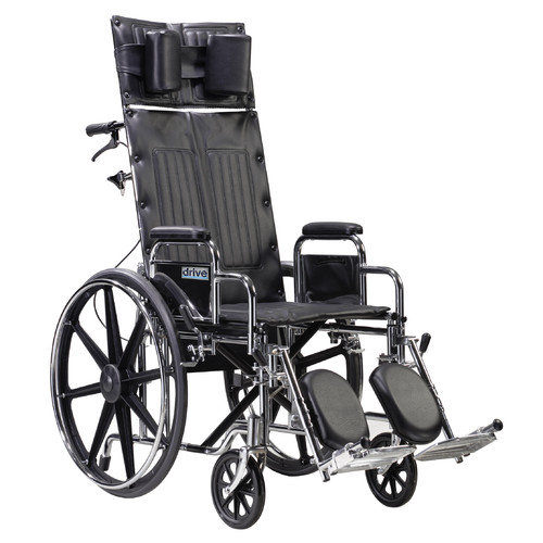 Drive Medical Sentra Reclining Wheelchair in Black
