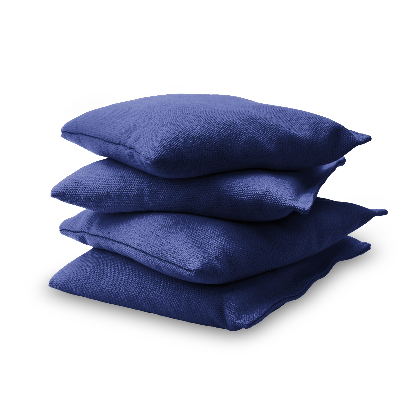 GoSports Premium Bean Bag Sets of 4 - 15 Color Choices - Filled with Synthetic Corn - Navy Blue