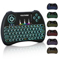 Tbest 2.4GHz Wireless Mini Remote Control Keyboard Colorful backlit with Rechargeable Battery Mouse T, Wireless Mini Keyboard