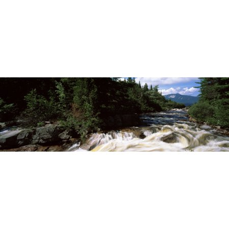 Baxter Canvas Painting (Stream flowing through a forest Little Niagara Falls Nesowadnehunk Stream Baxter State Park Piscataquis County Maine USA Canvas Art - Panoramic Images (6 x)