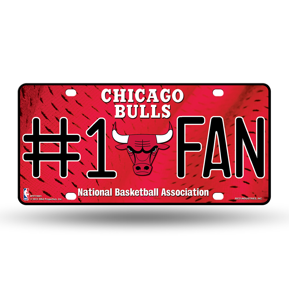 Chicago Bulls NBA Metal Tag License Plate (#1 Fan)