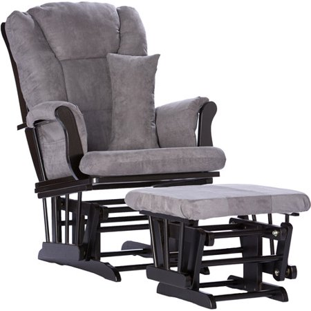 Storkcraft Tuscany Glider And Ottoman With Lumbar Pillow