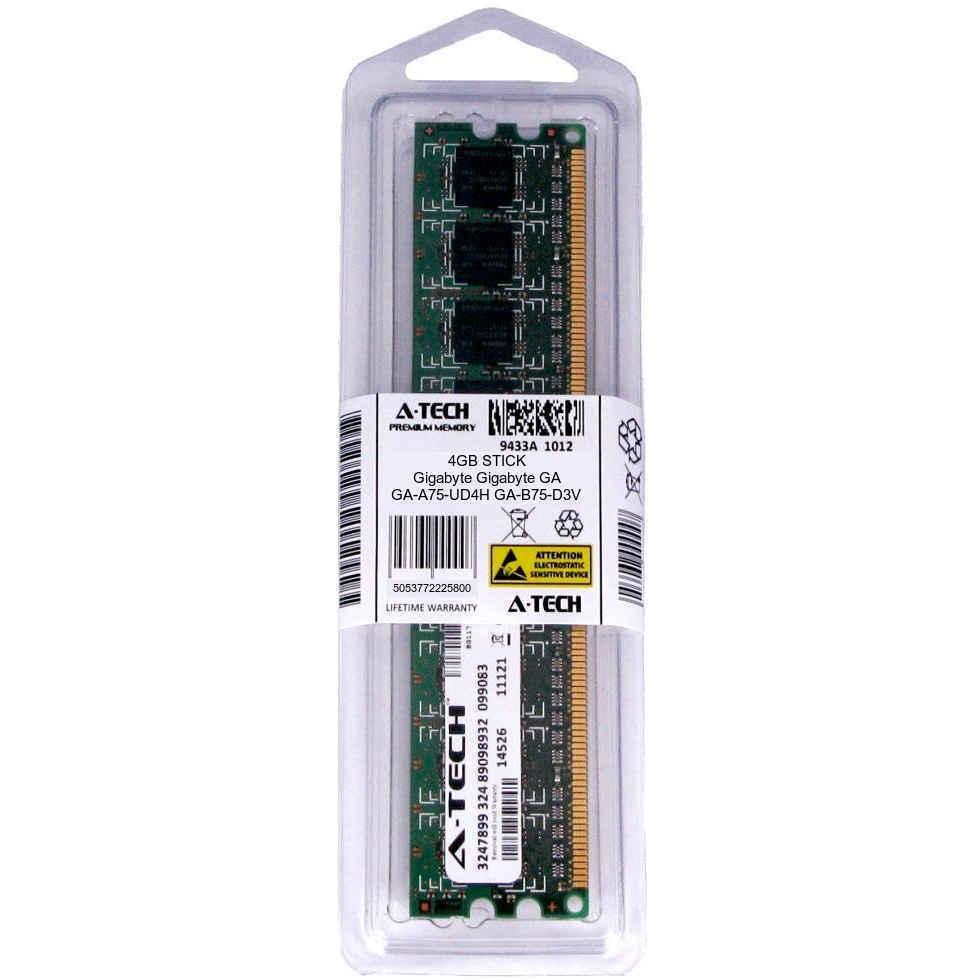 4GB DIMM Gigabyte GA-A75-UD4H GA-B75-D3V GA-B75M-D2V GA-B75M-D3H Ram Memory