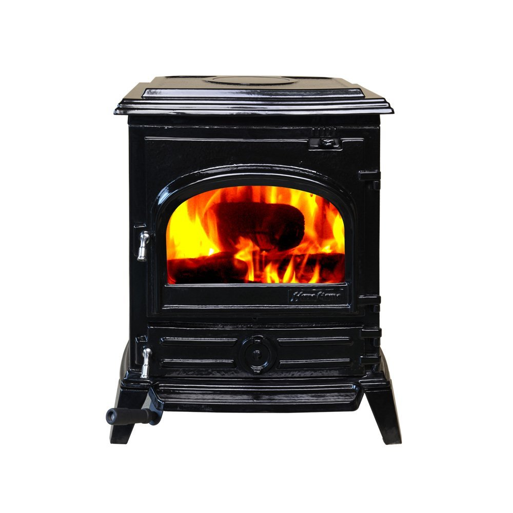 HiFlame EPA approved 1,600 Square Feet cast iron wood burning stove HF517UEBL Enamel Black CLEARANCE