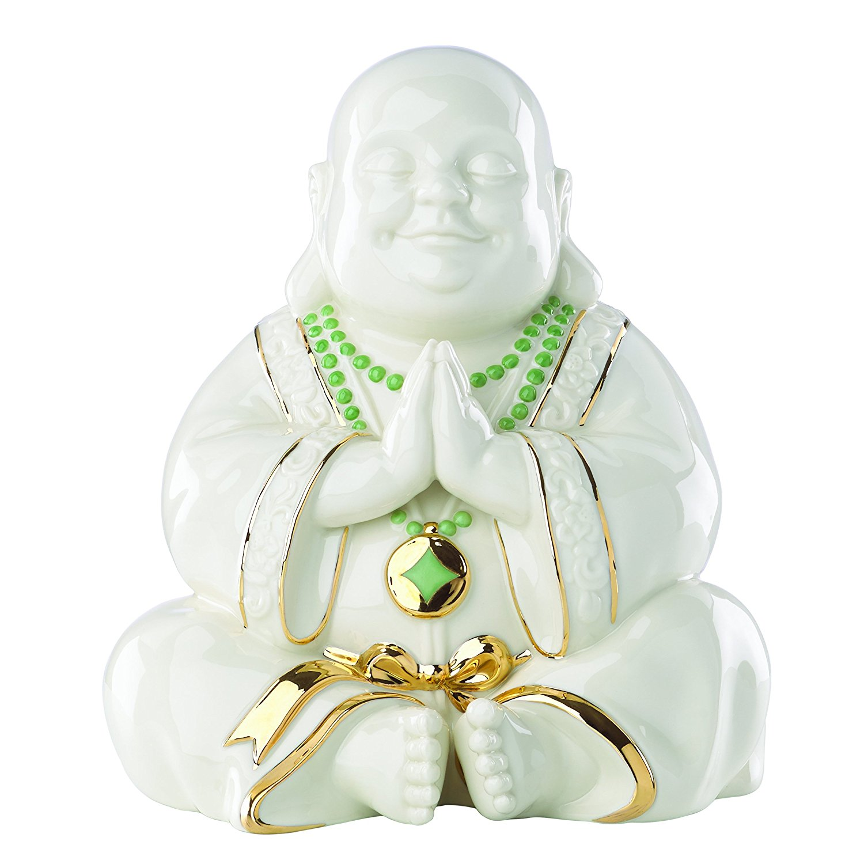 Exclusive Lenox Happy Praying Buddha Statue Figurine by