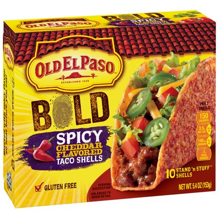 Old El Paso Gluten Free Stand N Stuff Bold Y Cheddar Flavored Taco Shells 5 4 Oz