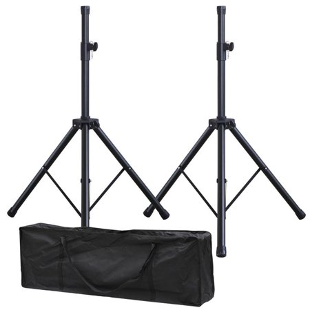 Yaheetech Adjustable 6 Ft Tripod Speaker Stands with Carry Bag Black, Set of 2