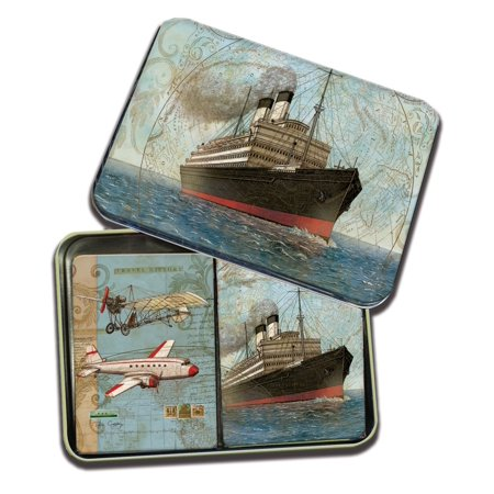 LANG VINTAGE TRAVEL TIN PLAYING CARDS ()
