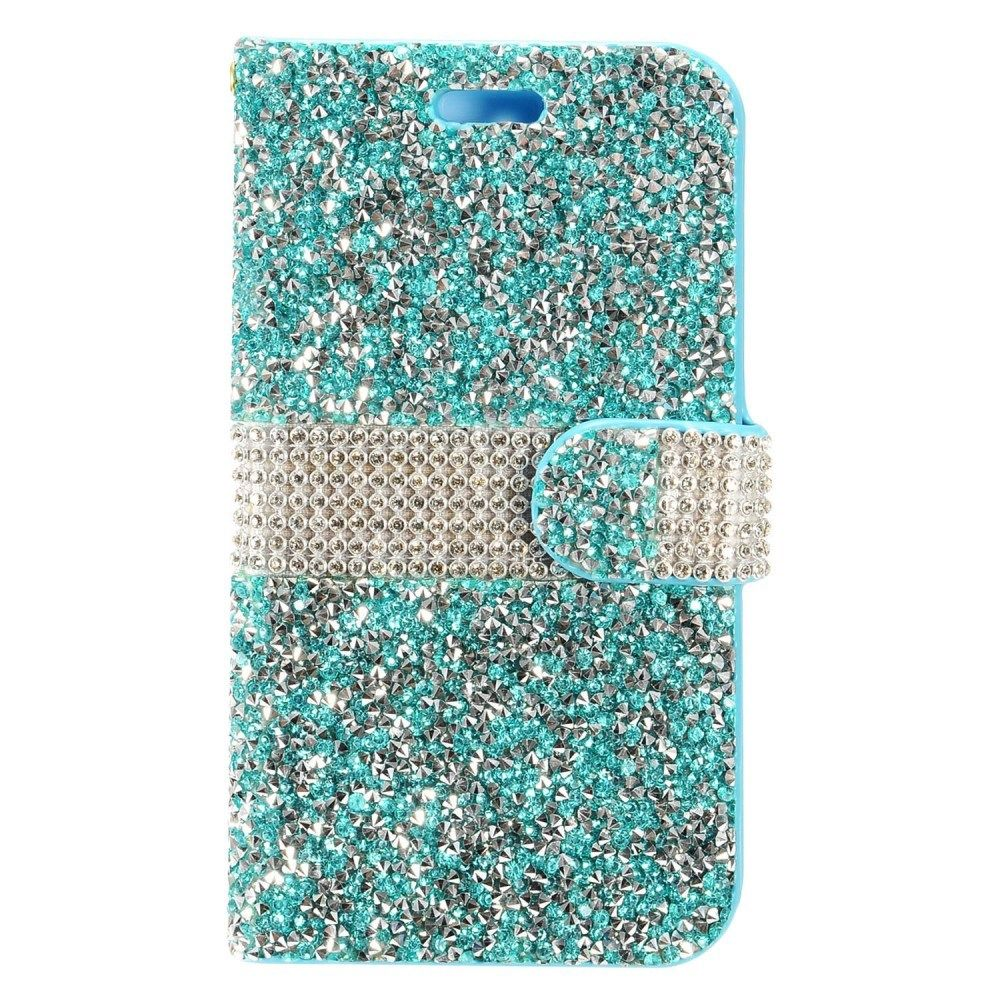 For Samsung Galaxy Note 8 Bling Diamond Wallet Case Flip Pouch + Screen Guard