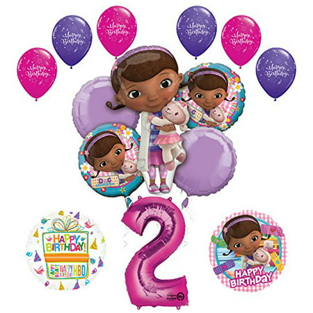 Doc McStuffins 2nd Birthday Party Supplies and Balloon Bouquet