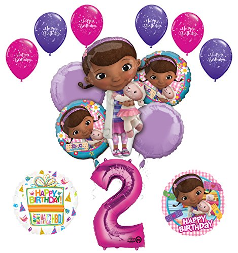 Doc McStuffins 2nd Birthday Party Supplies and Balloon Bouquet Decorations