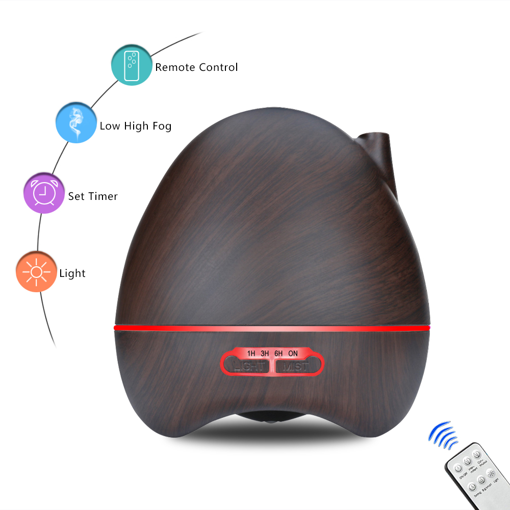 Zimtown 300ml Ultrasonic Aroma Humidifier/Aromatherapy Essential Oil Diffuser Cool Mist Humidifier for Home, Yoga, Office, Spa, Bedroom, Baby Room