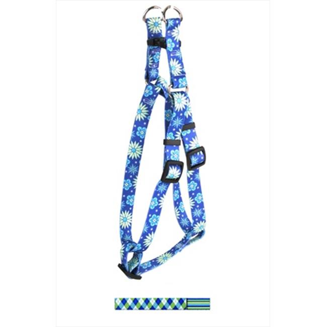Yellow Dog Design Argyle with Stripes Step-In Harness - Large