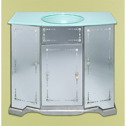 Venetian Gems Clarissa 40'' Single Bathroom Vanity Set with Mirror